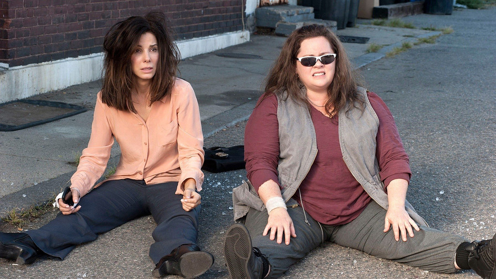 """. \""""The Heat\"""" starring Sandra Bullock (left) and Melissa McCarthy is the only major studio release this summer starring only women."""
