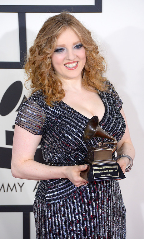 . Rachel Barton Pine arrives at the 56th Annual GRAMMY Awards at Staples Center in Los Angeles, California on Sunday January 26, 2014 (Photo by David Crane / Los Angeles Daily News)