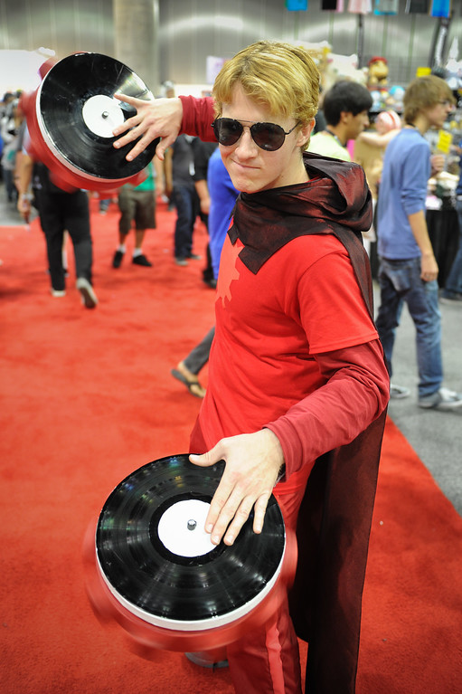 . Lucas Boyle is dressed as the character Dave Strider at the Anime Expo at the L.A. Convention Center, Saturday, July 6, 2013. (Michael Owen Baker/L.A. Daily News)