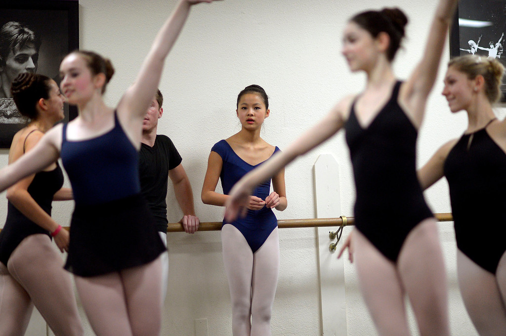 . Leili Rackow looks on during a rehearsal for the Nutcracker at the California Dance Theater in Agoura, CA December 10, 2013.  Rackow will dance as Clara this month in Pacific Festival Ballet\'s The Nutcracker at the Fred Kavli Theatre in Thousand Oaks, CA.(Andy Holzman/Los Angeles Daily News)