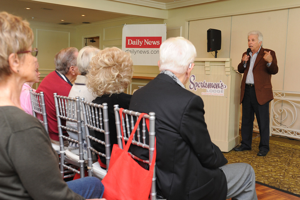 . Daily News Columnist Dennis McCarthy talks to his fans. The 4th annual Successful Aging Expo was held Saturday at the Sportsmen�s Lodge Events Center in Studio City, CA. 10/12/2013. photo by (John McCoy/Los Angeles Daily News)