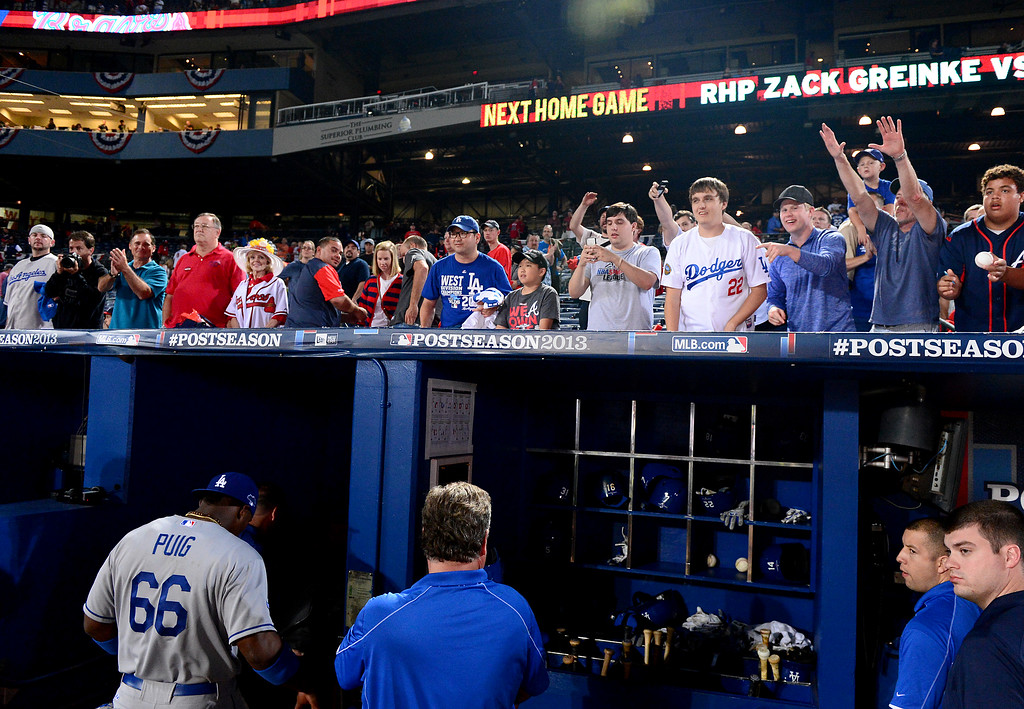 . The Los Angeles Dodgers defeat the Atlanta Braves 6-1 in the first game of the playoffs Thursday, October 3, 2013 at Turner Field in Atlanta, Georgia. (Photo by Sarah Reingewirtz/Pasadena Star- News)