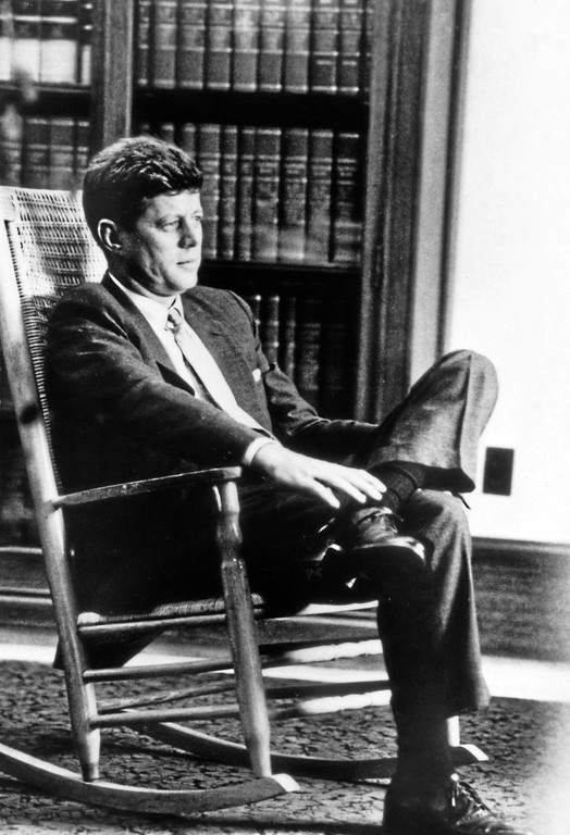 . JFK in his rocking chair.