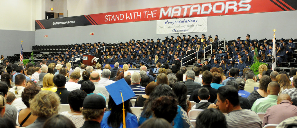 . Students at Northridge Academy High School graduation ceremony on Thursday, June 5, 2014. (Photo by Dean Musgrove/Los Angeles Daily News)