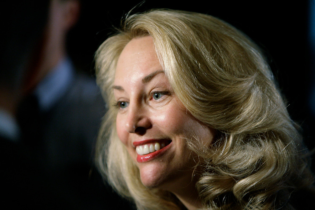 ". FILE-   This Friday, May 9, 2008 file photo shows former CIA officer Valerie Plame as she speaks at an annual ""power lunch\"" hosted by Illinois Rep. Jan Schakowsky in Chicago. With the release Friday of \""Fair Game,\"" the movie based on her infamous 2003 \""outing\"" as a CIA agent, Plame is back in the spotlight.   (AP Photo/M. Spencer Green, FILE)"