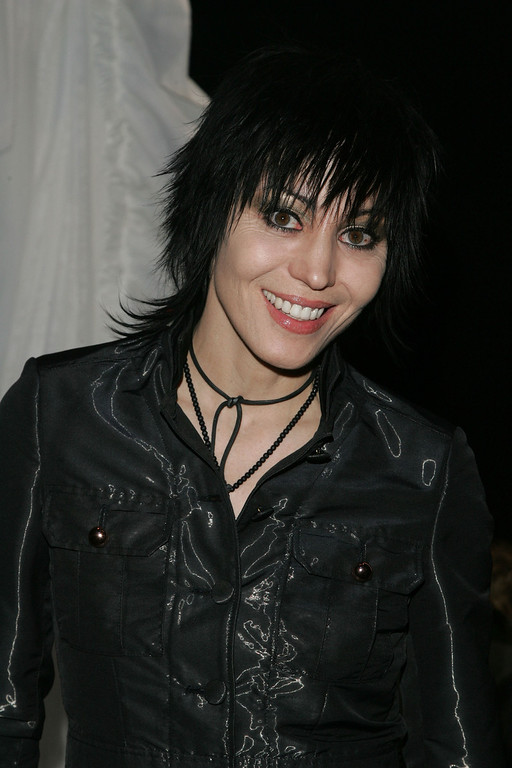 . NEW YORK - FEBRUARY 06:  Singer Joan Jett poses in the front row at the Betsey Johnson Fall 2007 fashion show during Mercedes-Benz Fashion Week in the Tent in Bryant Park February 6, 2007 in New York City.  (Photo by Peter Kramer/Getty Images For IMG)