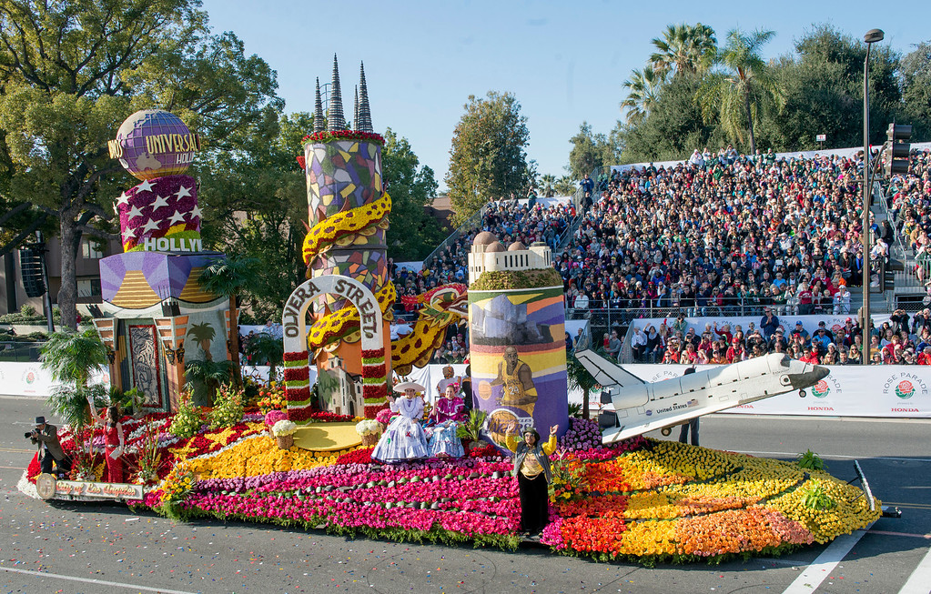 ". City of Los Angeles ""Endless Entertainment\"" float during 2014 Rose Parade in Pasadena, Calif. on January 1, 2014. (Staff photo by Leo Jarzomb/ Pasadena Star-News)"