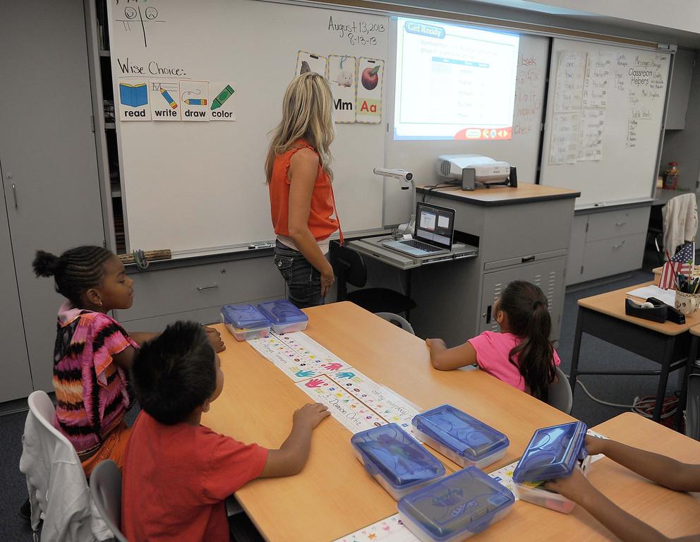 . Mrs. Batts Fifth grade class  at new Little Mountain Elementary School in San Bernardino.LaFonzo Carter/ Staff Photographer