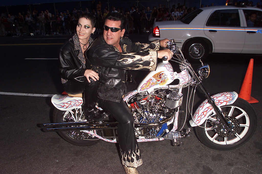 ". Chuck Zito and Joan Jett arrive at the MTV 20th Anniversary party, ""MTV20: Live and Almost Legal\"" at Hammerstein Ballroom in New York City, 8/1/01. Photo by Frank Micelotta/ImageDirect."