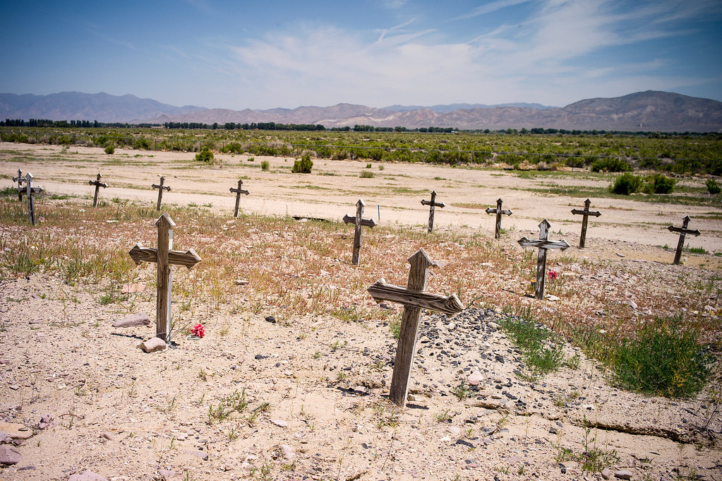 . The final resting place for Lovelock, Nevada residents east of the prison which now houses OJ Simpson.   The small town has been put on the map since Simpson was locked up at the Nevada Prison near town.    (Photo by David Crane/Los Angeles Daily News.)