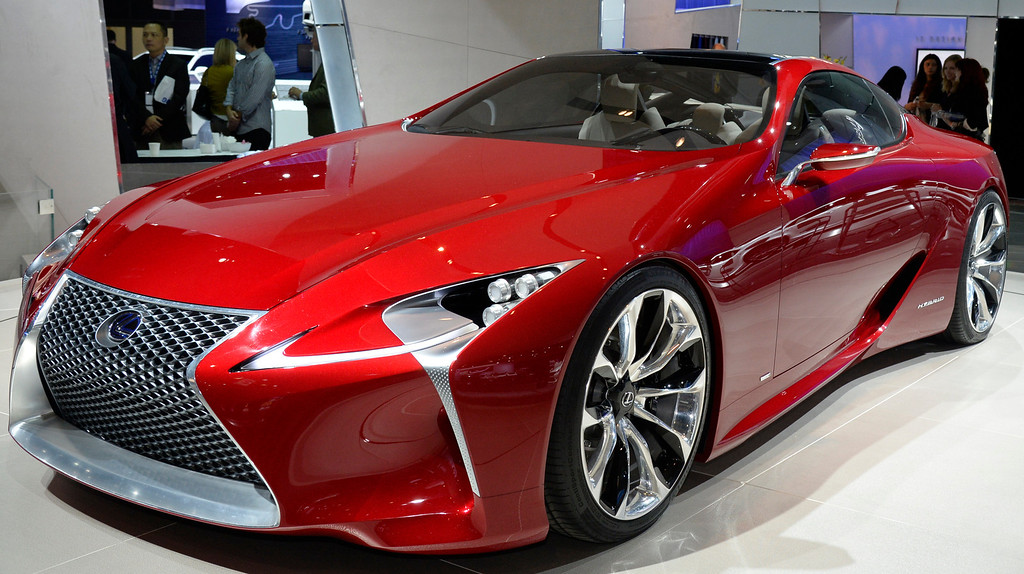 . Nov 20,2013 Los Angeles CA. USA. Lexus LF-LC hybrid coupe concept car on display during the 2013 Los Angeles Auto Show. Photo by Gene Blevins/LA Daily News