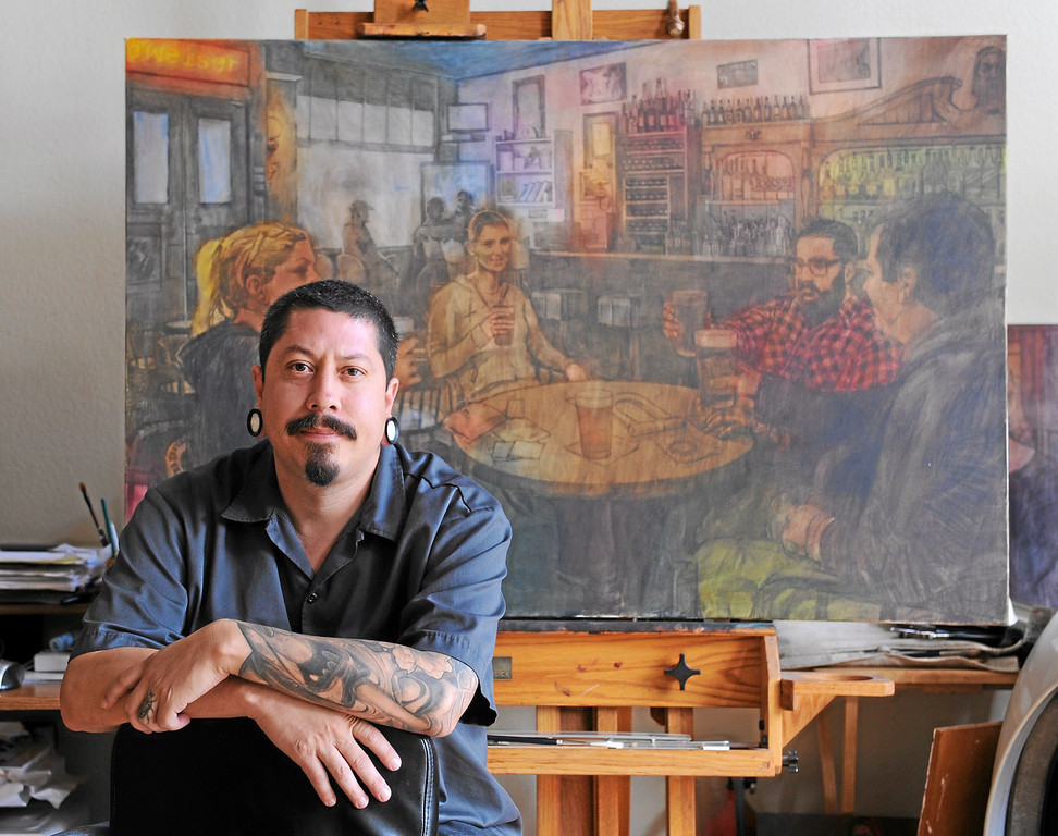 . San Pedro artist Sergio Sanchez in his home/studio in SP. Thurs. Sept. 26, 2013 Photo by Brad Graverson/The Daily Breeze