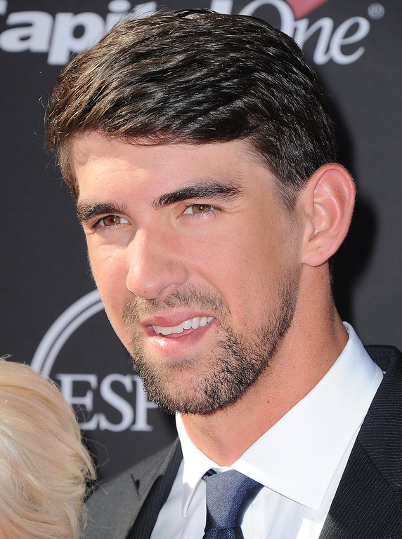 . Swimmer Michael Phelps arrives at the ESPY Awards on Wednesday, July 17, 2013, at Nokia Theater in Los Angeles. (Photo by Jordan Strauss/Invision/AP)