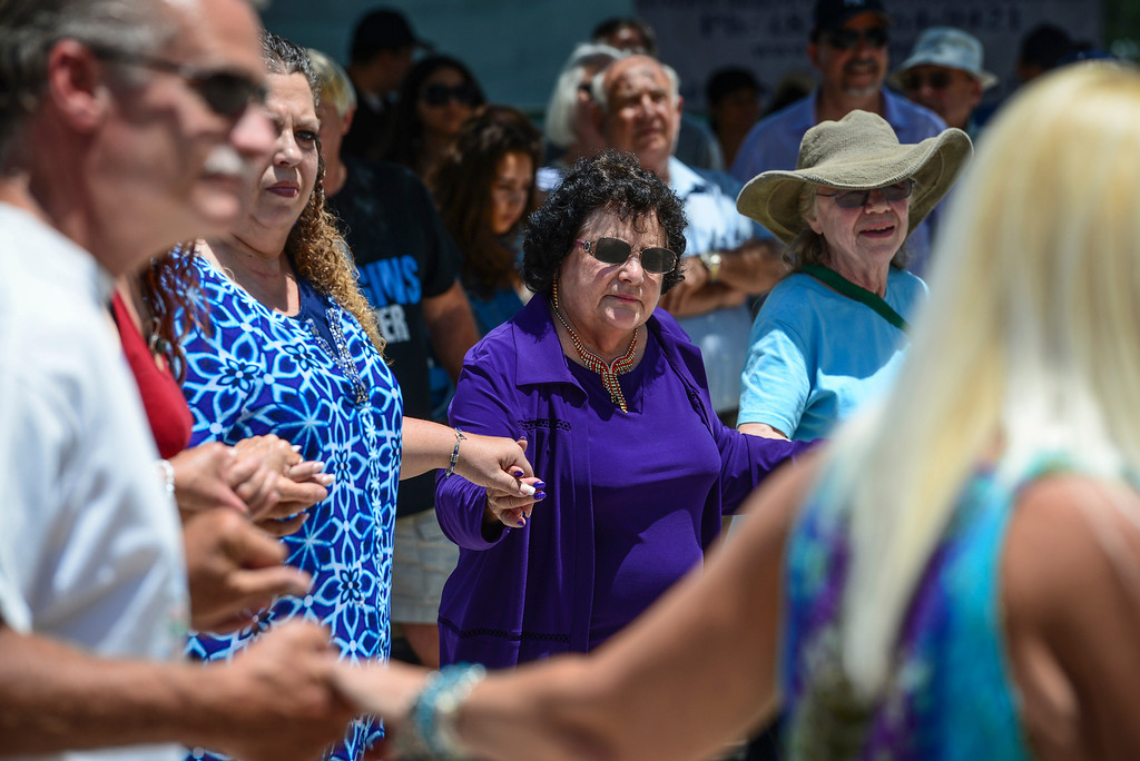 . Traditional Greek dancing at the 41st annual valley Greek Festival at the Saint Nicholas Greek Orthodox Church at the corner of Balboa and Plummer streets in Northridge.  The festival runs through Monday with food, music, dancing and crafts.   ( Photo by David Crane/Los Angeles Daily News )