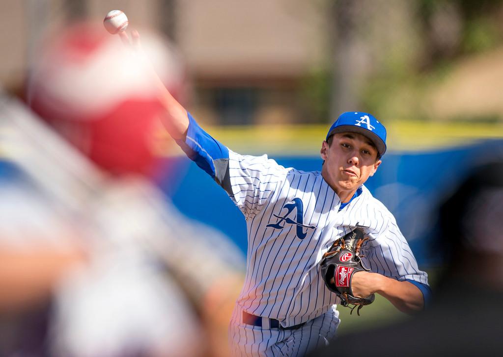 . Bishop Amat\'s starting pitcher Andrew Eppenbach vs Serra High at Amat\'s La Puente, Calif. campus field April 16, 2014.  (Staff photo by Leo Jarzomb/San Gabriel Valley Tribune)
