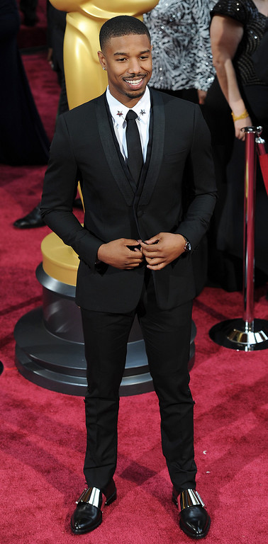 . Michael B. Jordan attends the 86th Academy Awards at the Dolby Theatre in Hollywood, California on Sunday March 2, 2014 (Photo by John McCoy / Los Angeles Daily News)