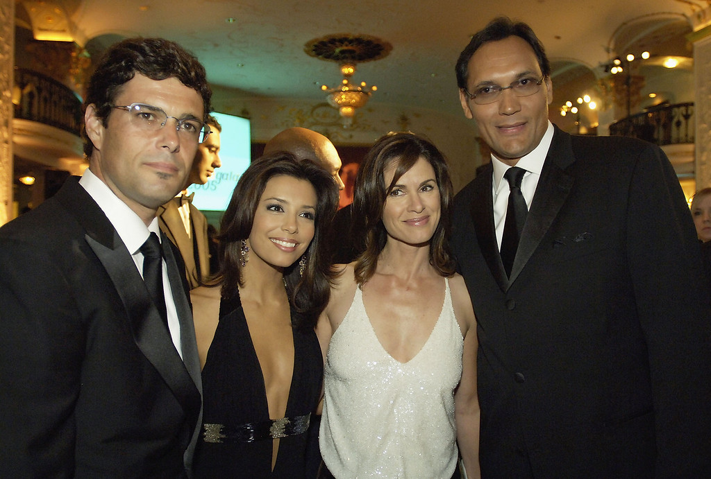 ". WASHINGTON - SEPTEMBER 13: Left to right: Carlos Bernard ""24\"", Eva Longoria \""Desperate Housewives\"", news anchor 20/20 host Elizabeth Vargas, and Jimmy Smits \""West Wing\"", pose together at the National Hispanic Foundation For The Arts Annual \'Noche de Gala\"" at the Mayflower Hotel, September 13, 2005 in Washington, DC.