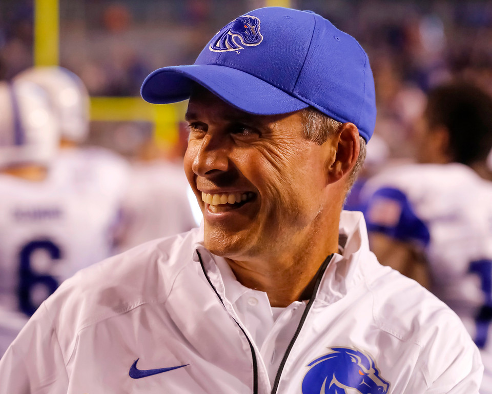 . <B>Chris Petersen</b> <br />Head coach, Boise State  (Sept. 13, 2013) (AP Photo/Otto Kitsinger)