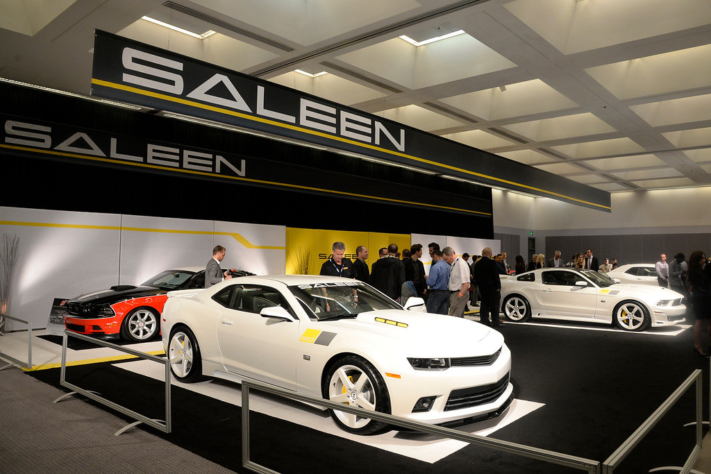 . Nov 22,2013 Los Angeles CA. The Saleen display during the 2nd media day. The show opens to the public today Friday and runs through Dec 1st.  Photo by Gene Blevins/LA Daily News