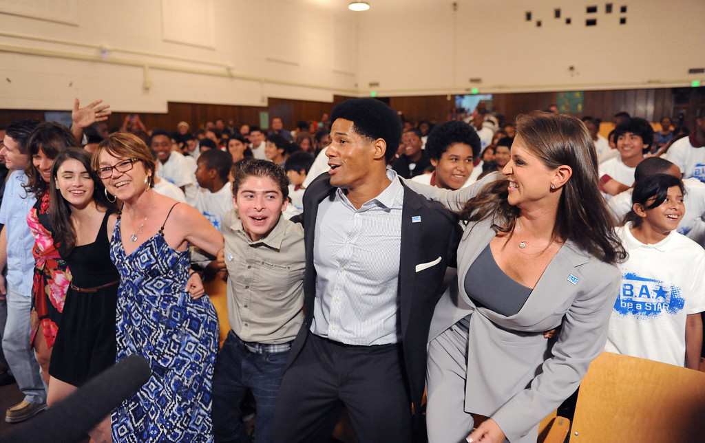 . Actor Ryan Ochoa and WWE wrestler Darren Young, center dance at Samuel Gompers MS in Los Angeles. WWE and The Creative Coalition launched the anti-bullying alliance, �Be a STAR� (Show Tolerance And Respect), to provide students with positive tools to prevent bullying in their schools and communities.  The mission of �Be a STAR� is to ensure a positive and equitable social environment for everyone regardless of age, race, religion or sexual orientation through education and awareness.WWE and The Creative Coalition launched the anti-bullying alliance, �Be a STAR� (Show Tolerance And Respect), to provide students with positive tools to prevent bullying in their schools and communities.  The mission of �Be a STAR� is to ensure a positive and equitable social environment for everyone regardless of age, race, religion or sexual orientation through education and awareness. Photo by Brad Graverson 8-15-13