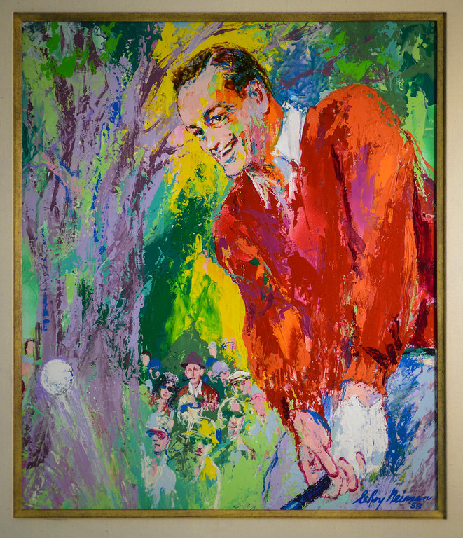 . A Leroy Neiman painting, one of the items from the estate of Bob Hope to be auctioned off by Julien\'s Auctions in Beverly Hills, CA.  September 9, 2013.  The auction is combined with an auction of Phyllis Diller items.    (Photo by David Crane/Los Angeles Daily News)