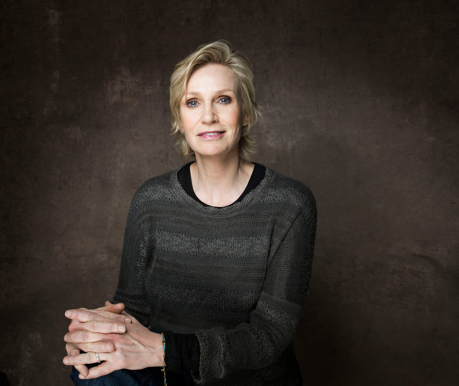 """. FILE - This Jan. 21, 2013 file photo shows actress Jane Lynch during the 2013 Sundance Film Festival at the Fender Music Lodge in Park City, Utah. Lynch said Wednesday, Feb. 20, she�ll be replacing Tony Award-winning actress Katie Finneran as the evil orphanage matron Miss Hannigan in the current revival of \""""Annie.\""""  A veteran of Chicago�s Steppenwolf Theatre Company, she will play Hannigan for eight weeks, from May 16 through July 14. (Photo by Victoria Will/Invision/AP, file)"""