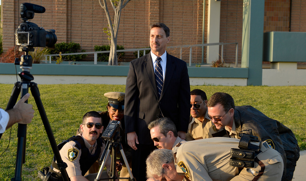 . The cast of Reno 911 filmed a TV spots for sheriff\'s candidate Todd Rogers in Carson CA. Thursday March 27,  2014. (Thomas R. Cordova-Daily Breeze/Press-Telegram)