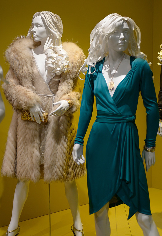 """. Costumes from \""""American Hustle.\"""" FIDM/Fashion Institute of Design & Merchandising is hosting the Art of Motion Picture Costume Design, which features 100 costumes from over 20 selected films, including Oscar nominated designs. Los Angeles, CA. February 09, 2014 (Photo by John McCoy / Los Angeles Daily News)"""