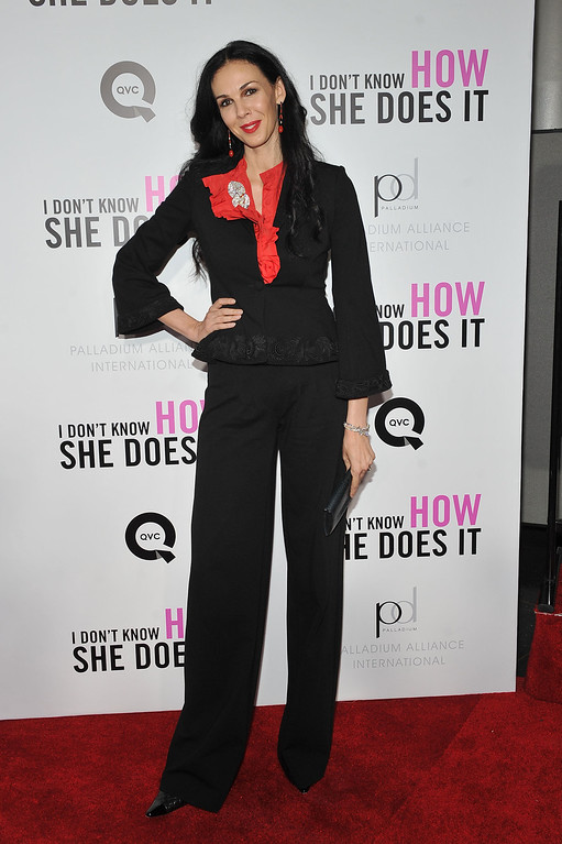 ". Designer L\'Wren Scott attends the premiere of The Weinstein Company\'s ""I Don\'t Know How She Does It Premiere\"" sponsored by QVC & Palladium Jewelry at AMC Lincoln Square Theater on September 12, 2011 in New York City.  (Photo by Stephen Lovekin/Getty Images for The Weinstein Company)"
