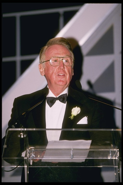 . 12 Nov 1995: Vin Scully during the 100 Great Moments ceremony at UCLA in Los Angeles, California. (File photo)