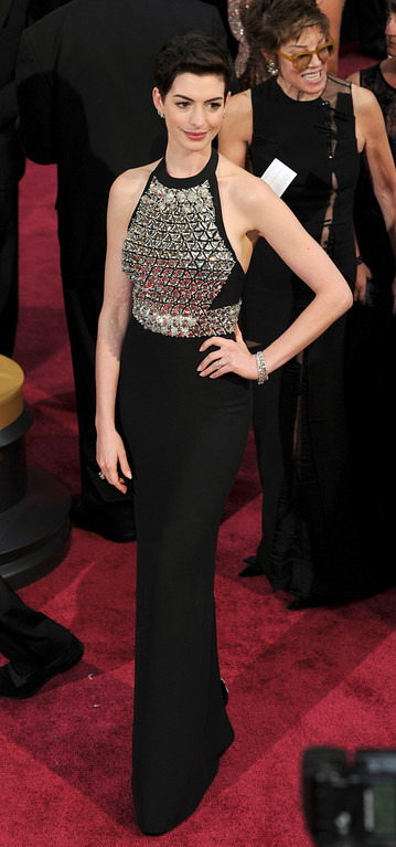 . Anne Hathaway attends the 86th Academy Awards at the Dolby Theatre in Hollywood, California on Sunday March 2, 2014 (Photo by John McCoy / Los Angeles Daily News)