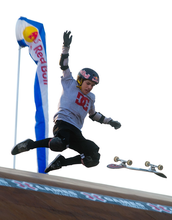 . Tom Schaar competes in the America\'s Navy Skateboard Big Air final during X Games Los Angeles at Irwindale Event Center in Irwindale on Thursday, August 1, 2013. (SGVN/Staff photo by Watchara Phomicinda)