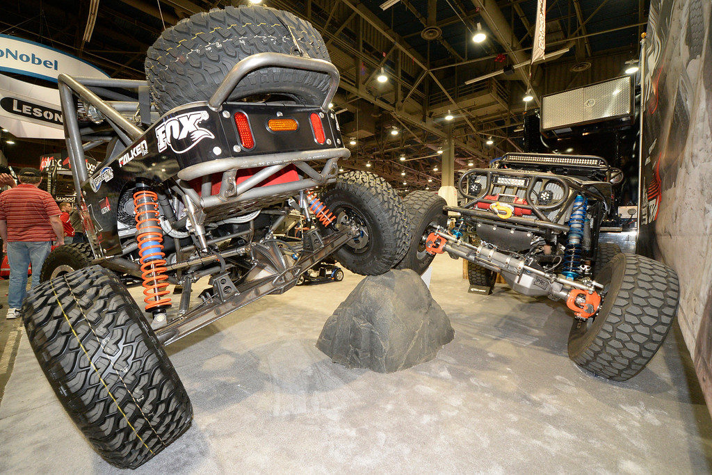 . Nov 6,2013 Las Vegas NV. USA. Dynatrac 4x4 axles are displayed,  during the second day of the 2013 SEMA auto show.