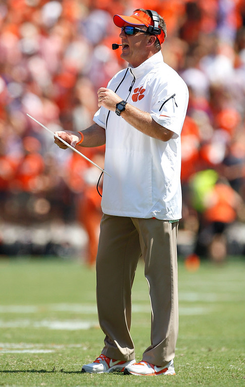 . <b>Chad Morris</b> <br />Offensive coordinator, Clemson (September 7, 2013)  (Photo by Tyler Smith/Getty Images)