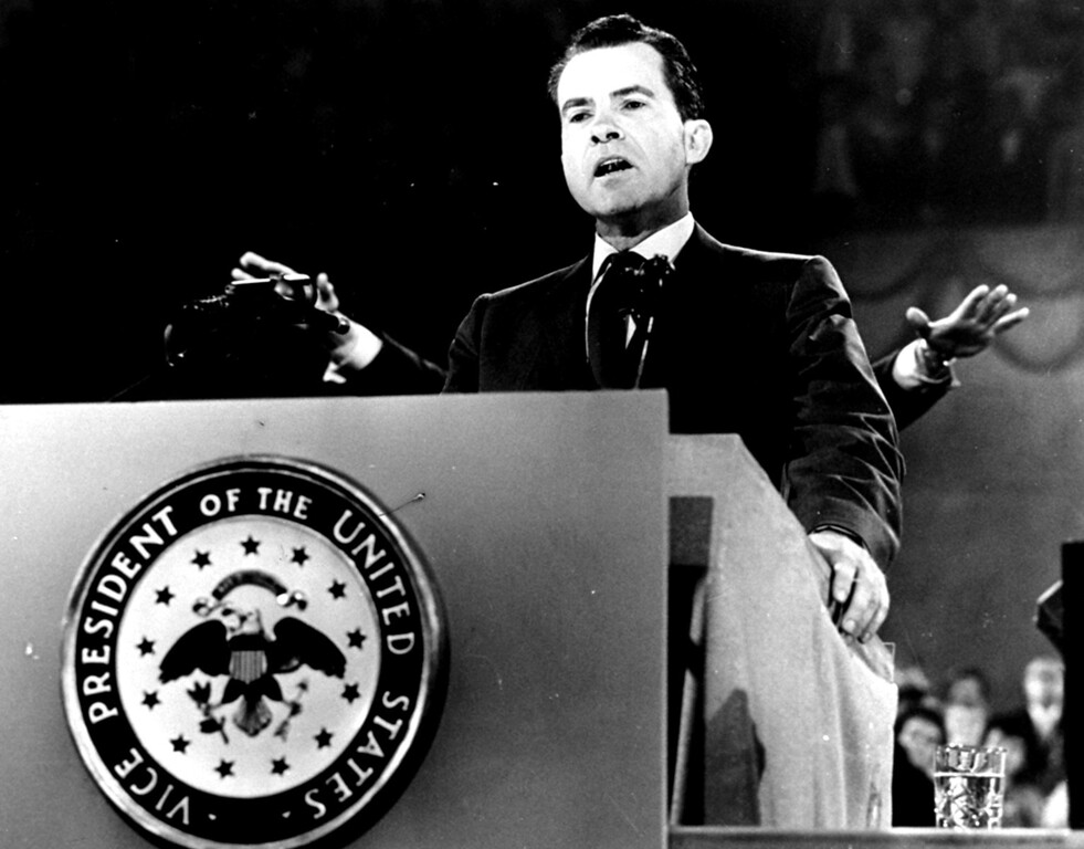 . 1960 Rose Parade grand marshal, Vice President Richard M. Nixon.  (AP Photo/File)
