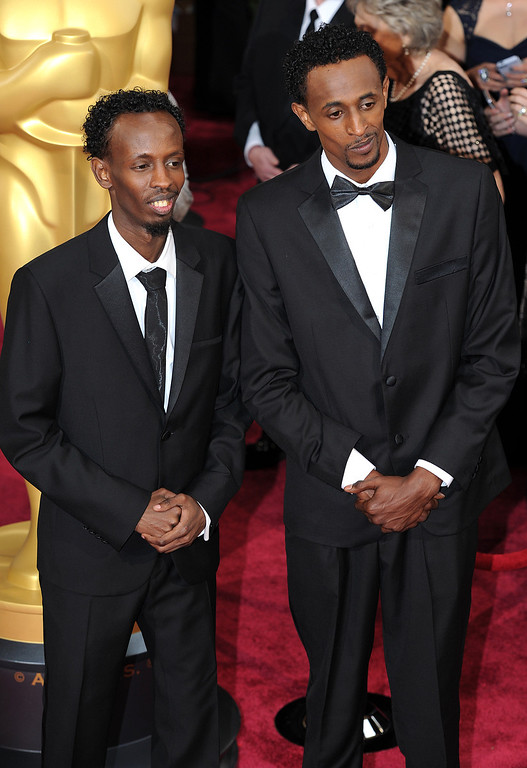 . Barkhad Abdi and Faysal Ahmed attend the 86th Academy Awards at the Dolby Theatre in Hollywood, California on Sunday March 2, 2014 (Photo by John McCoy / Los Angeles Daily News)