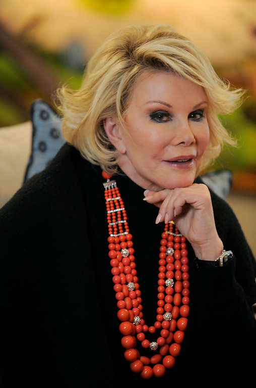 ". Joan Rivers, the subject of the documentary film ""Joan Rivers - A Piece of Work,\"" poses for a portrait at the Sundance Film Festival in Park City, Utah, Tuesday, Jan. 26, 2010. (AP Photo/Chris Pizzello)"