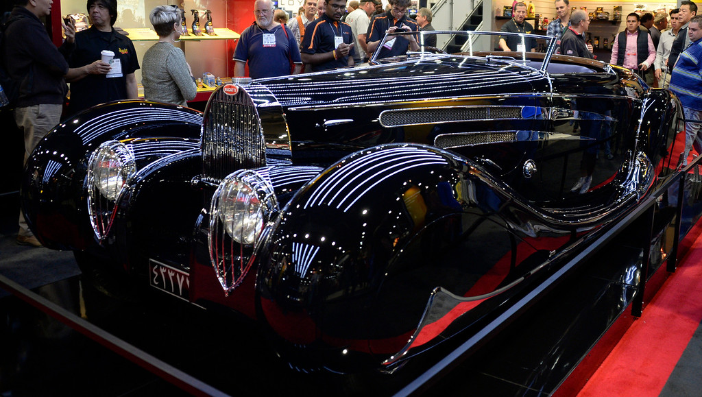 . Nov 6,2013 Las Vegas NV. USA. A 1939 Bugatti on display during the second day of the 2013 SEMA auto show.