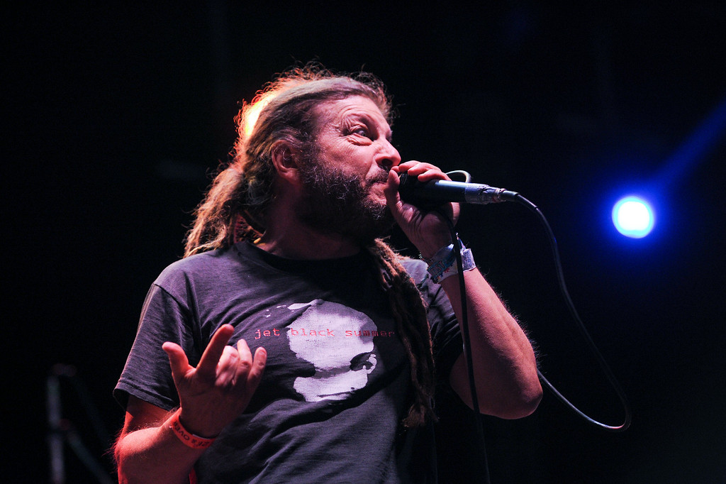 . The Flag vocalist Keith Morris performs music of Black Flag at FYF Fest in downtown L.A., Saturday, August 24, 2013. (Michael Owen Baker/L.A. Daily News)