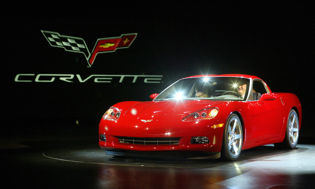 . DETROIT, UNITED STATES:  CEO and Chairman Rick Wagoner of General Motors drives in the new 2005 Corvette, 04 January 2004 during the press days at the North American International Auto Show at Civic Opera House in Detroit, Michigan.  This is the sixth generation of the Chevrolet Corvette staring back in 1953.  (JEFF HAYNES/AFP/Getty Images)