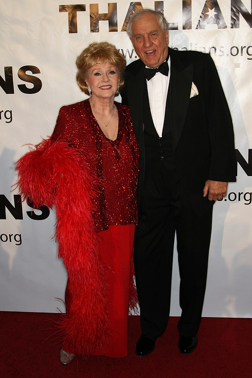 . Actress Debbie Reynolds (L) and director Garry Marshall attend the 54th annual Thalians Ball at the Beverly Hilton Hotel on November 1, 2009 in Beverly Hills, California.  (Photo by Frederick M. Brown/Getty Images)