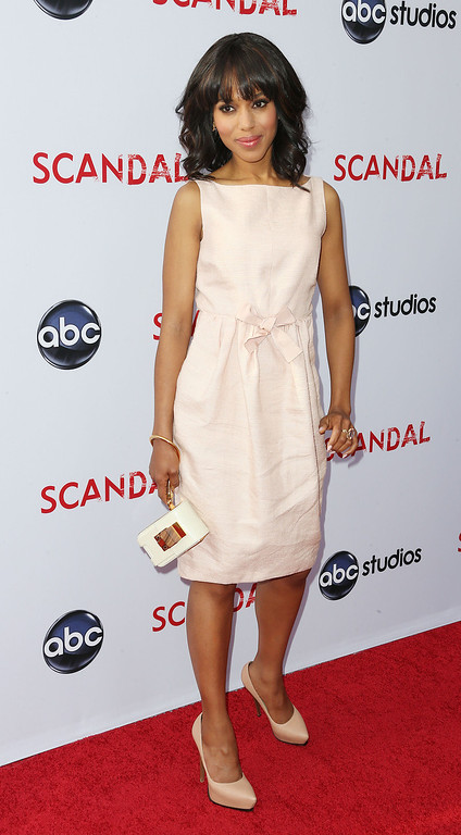 """. NORTH HOLLYWOOD, CA - MAY 16:  Actress Kerry Washington attends  Academy of Television Arts & Sciences\' Presents an Evening with \""""Scandal\"""" at the Leonard H. Goldenson Theatre on May 16, 2013 in North Hollywood, California.  (Photo by Frederick M. Brown/Getty Images)"""