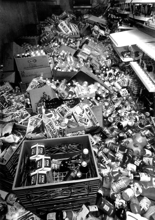 . June 28, 1992: Most of this Yucca Valley Circle K\'s merchandise remained on the floor Monday after the earthquakes hit early Sunday morning.  Daily News file photo