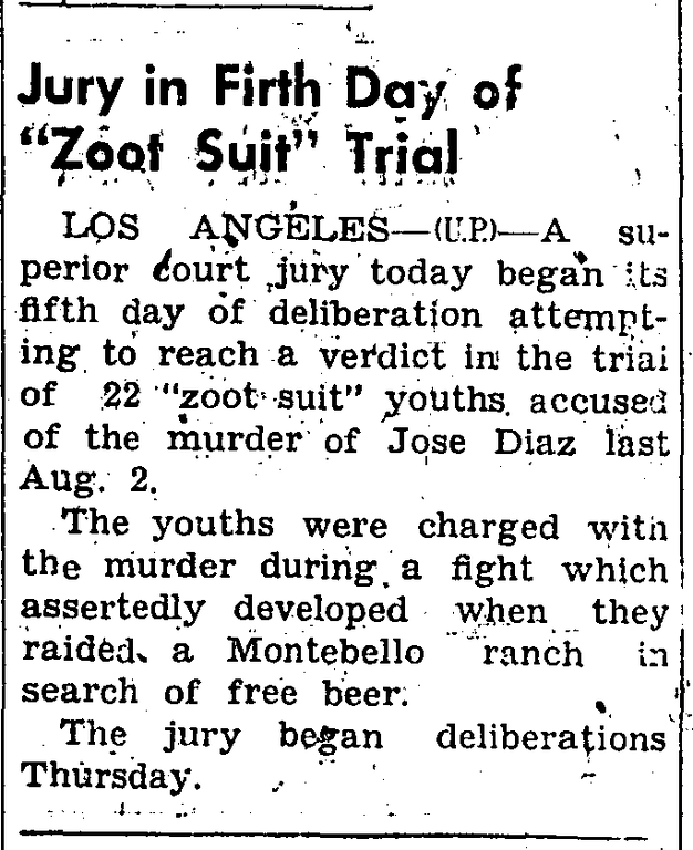 . During the summer of 1943, while the heat hit the streets in the form of fights and riots between the sailors and latino youth, newspapers headlines only fueled the fires of racism and fear. (Article originally published in the Corona Daily Independent on Jan. 11, 1943)