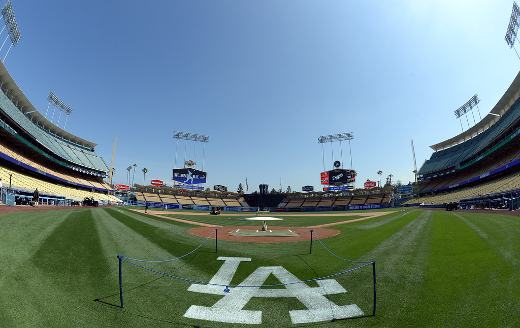 . A quiet Dodger Stadium prior to a Major league baseball game against the San Francisco Giants on Saturday, May10, 2013 in Los Angeles.   (Keith Birmingham/Pasadena Star-News)