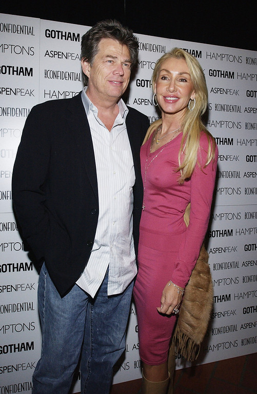 """. HOLLYWOOD - NOVEMBER 4: Producer David Foster and wife Linda Thompson attend the after party to the premiere of the New Line Cinema film \""""After The Sunset\"""" on Novemebr 4, 2004 in Hollywood, California.(Photo by Vince Bucci/Getty Images)"""