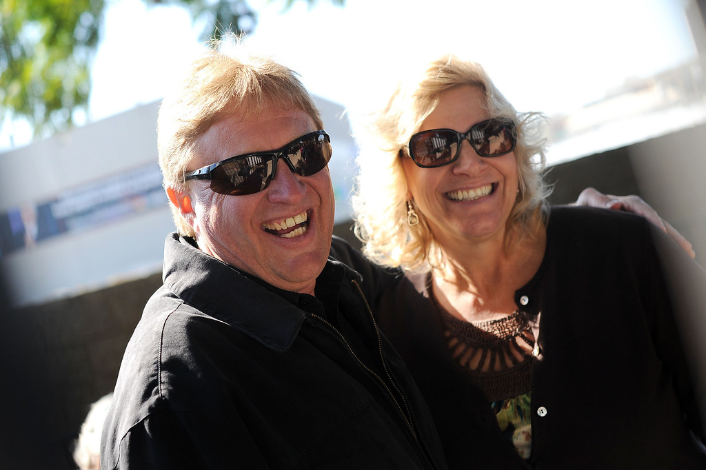 . Bryce and Kelly Johnson wait to see a taping of The Tonight Show with Jay Leno in Burbank, CA February 5, 2014.(Andy Holzman/Los Angeles Daily News)