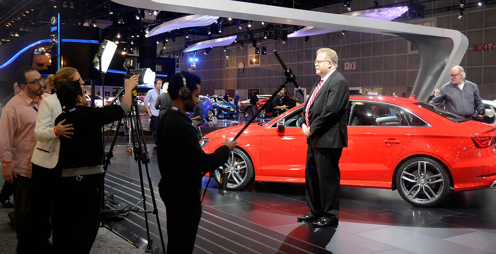 . Nov 22,2013 Los Angeles CA. News media do interviews during the 2nd media day at the Los Angeles Auto Show. Photo by Gene Blevins/LA Daily News