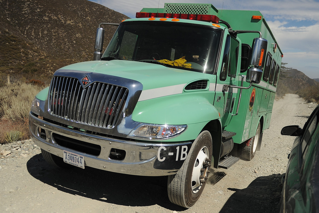. LYTLE CREEK - U.S. Forest Service firefighters are battling a 4-acre brush fire Wednesday August 20 at the far northern end of Lytle Creek Canyon that was ignited by a lightning strike.The so-called Gobblers Fire was reported about 3 p.m. Monday north of Stockton Flat in Lytle Creek, about four miles south of Wrightwood and a mile north of Mt. Baldy Notch, fire officials said.There are no homes threatened.LaFonzo Carter/ Staff Photographer