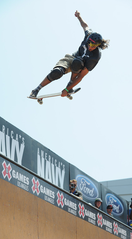 . during the Skateboard Vert Finals at L.A. Live in Los Angeles, CA. 8/3/2013(John McCoy/LA Daily News)